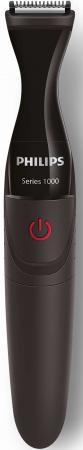 Триммер Philips MG1100/16 черный (насадок в компл:3шт) philips multigroom mg1100 ultra precise beard styler dualcut trimmer shaver