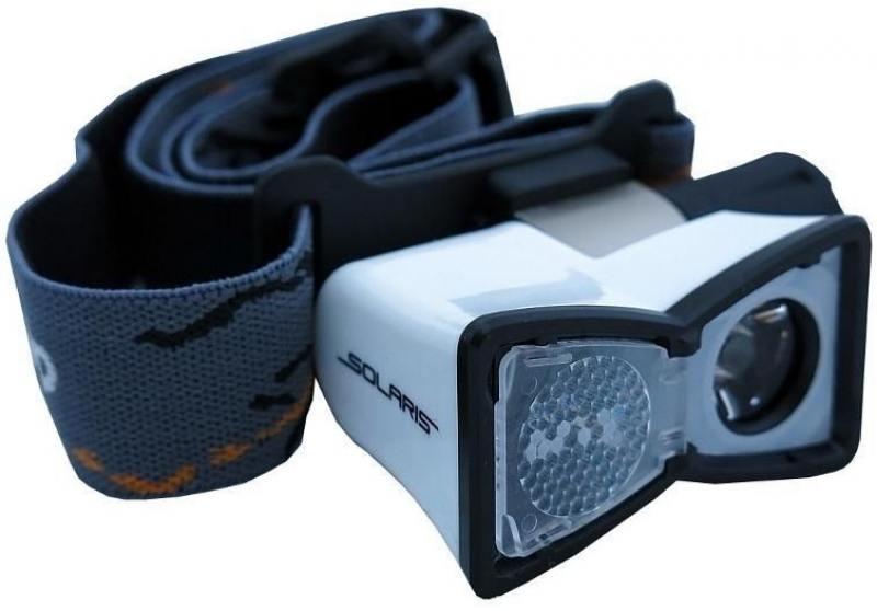 Фонарь Solaris M20 светодиодный налобный белый фонари solaris чёрный налобный фонарь