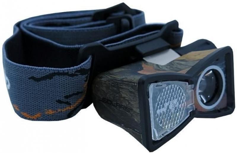 Фонарь Solaris M20 светодиодный налобный камуфляж