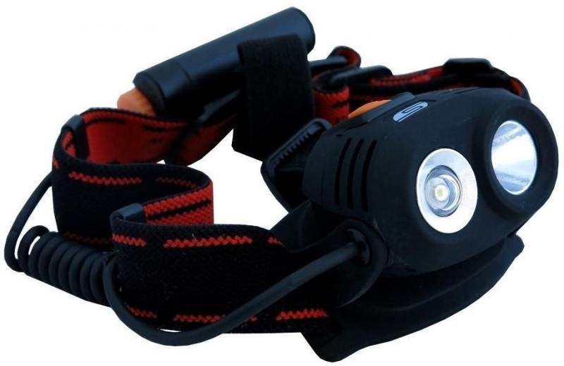 Фонарь Solaris M40 светодиодный налобный черный