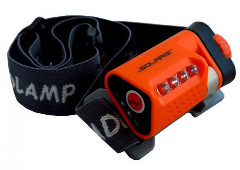 Фонарь Solaris L40 светодиодный налобный оранжевый фонари solaris чёрный налобный фонарь