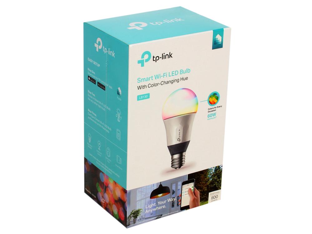 Умная Wi-Fi лампа TP-LINK LB130 wi fi роутер tp link td w8961n