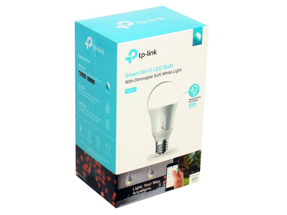 Умная Wi-Fi лампа TP-LINK LB100 wi fi роутер tp link td w8961n