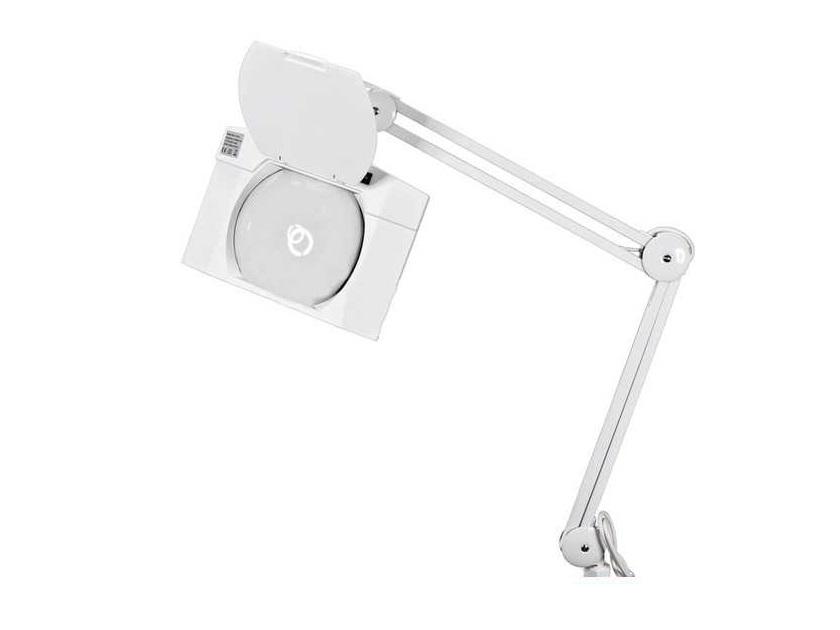 Лупа на струбцине квадратная 5D с подсветкой 108LED, белая  REXANT