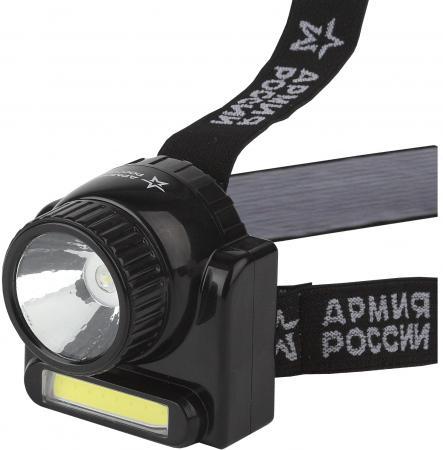 ЭРА Б0030185 Налобный аккумуляторный фонарь GA-501 Гранит {3Вт СОВ светодиод ближний свет, 3Вт свето