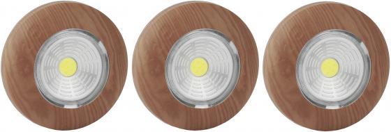 ЭРА Б0031045 Фонарь-подсветка SB-506 Аврора дерево (упак. 3 шт) {СОВ диод, самоклеющаяся поверхность