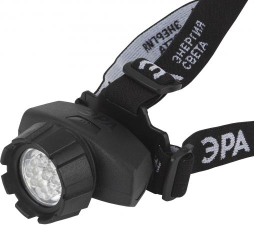 ЭРА Б0031384 Налобный фонарь GB-604 {18 светодиодов, 3хААА в комплект не входит, 4 режима}