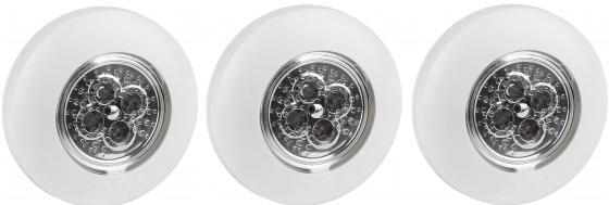 ЭРА Б0029182 Фонарь-подсветка SB-502 Аврора белый (упак. 3 шт) {4 светодиода, самоклеющаяся поверхно