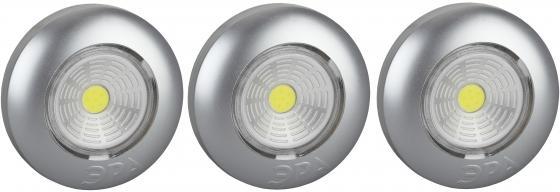 ЭРА Б0031043 Фонарь-подсветка SB-504 Аврора серебристый (упак. 3 шт) {СОВ диод, самоклеющаяся поверх