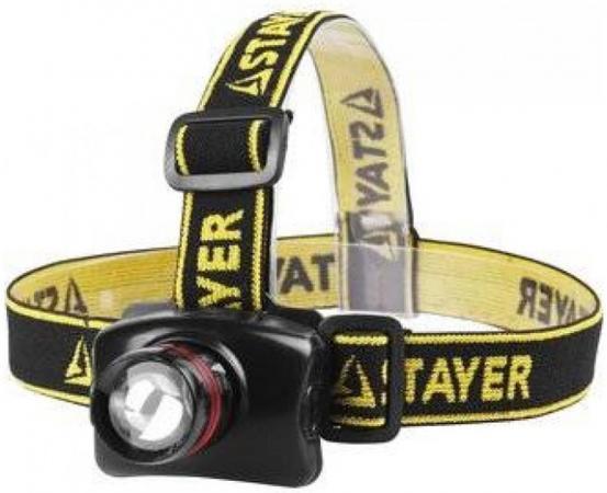 Фонарь STAYER 56566 professional налобный светодиодный 3Вт(140лм) регулируемый фокус 3 режима 3ааа фонарь ручной эра циркон 3вт регулируемый фокус 3 режима