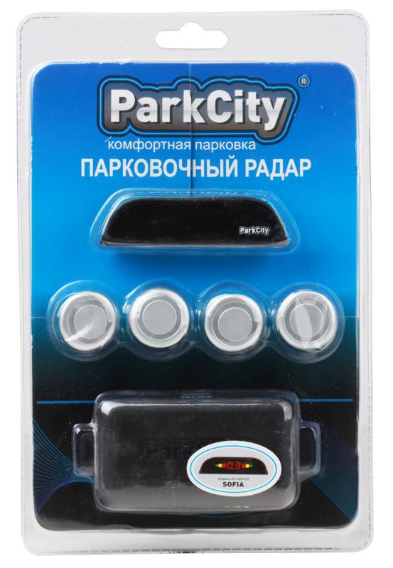Парковочный радар ParkCity Sofia 418/202 Silver Упаковка Прозрачный Блистер