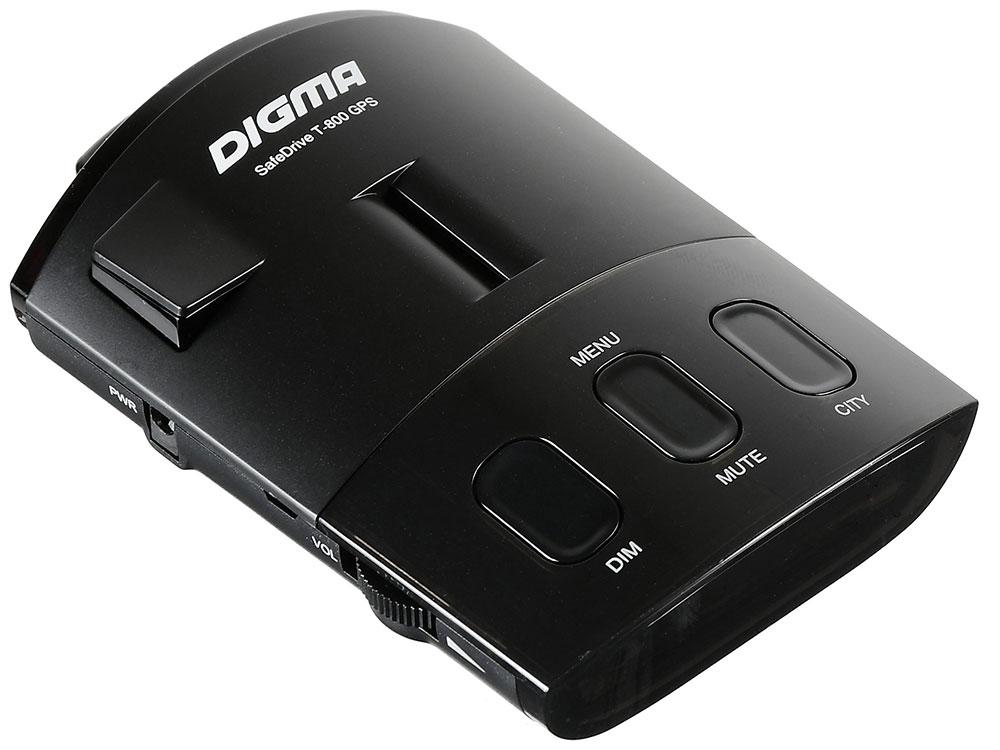 Радар-детектор Digma SafeDrive T-800 GPS приемник черный