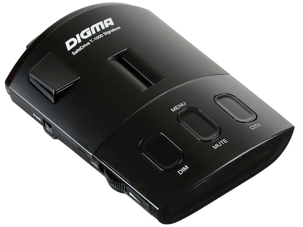 Радар-детектор Digma SafeDrive T-1000 Signature GPS приемник черный
