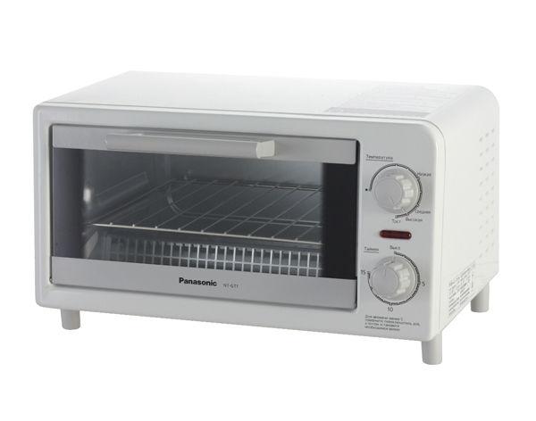 Мини-печь Panasonic NT-GT1WTQ , 9л, белый электропечь panasonic nt gt1wtq