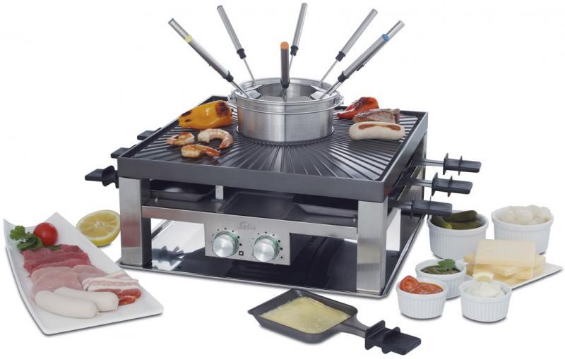 Раклетница Solis Combi-Grill 3 in 1 серебристый чёрный solis table grill 5 in 1 раклетница