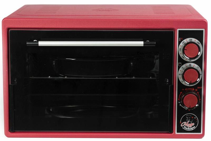 Мини-печь Чудо Пекарь ЭДБ-0123 красный мини печь чудо пекарь эдб 0123 бел