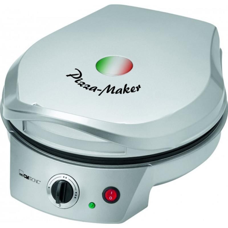 Прибор для приготовления пиццы Clatronic PM 3622 серебристый приборы для выпечки ariete прибор для приготовления пиццы 905 da gennaro