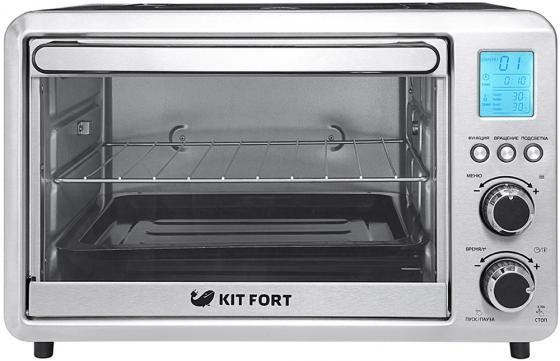 лучшая цена Мини-печь KITFORT КТ-1705 серебристый