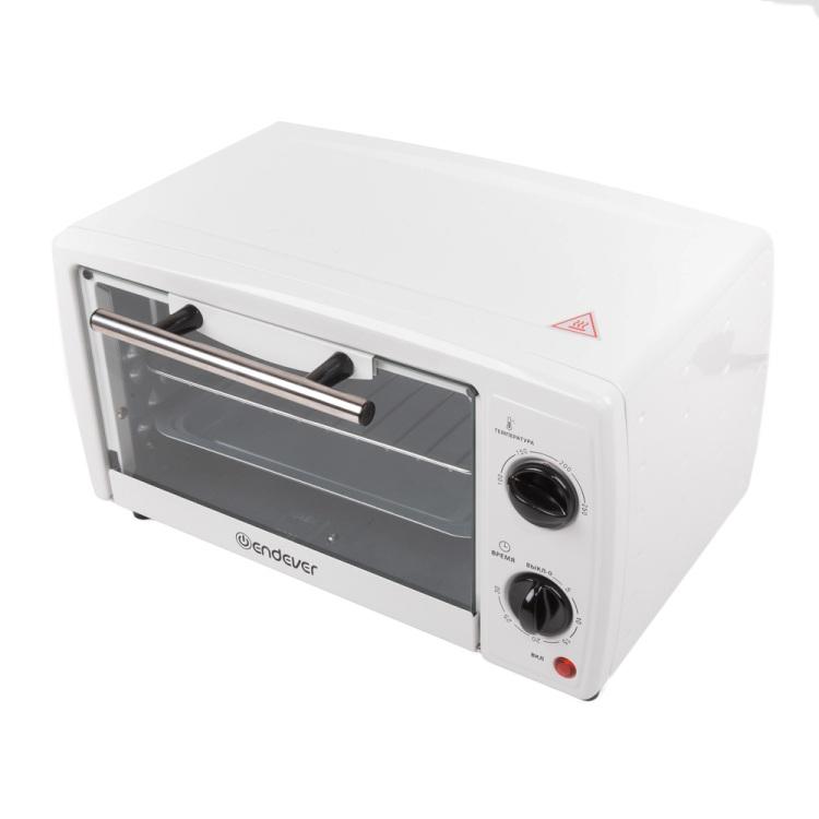 Мини-печь Endever Danko 4003, белый, 10 литров, 800 Ватт, таймер 30 мин, темп. до 250 градусов