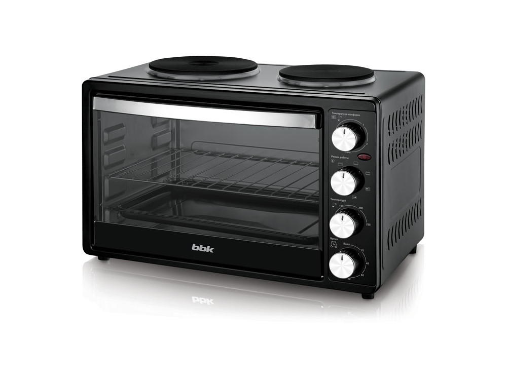 где купить Мини-печь BBK OE3071M-2P черный дешево