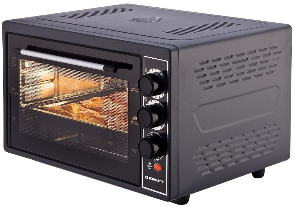 Мини-печь Kraft KF-MO3804RKBL черный цена и фото