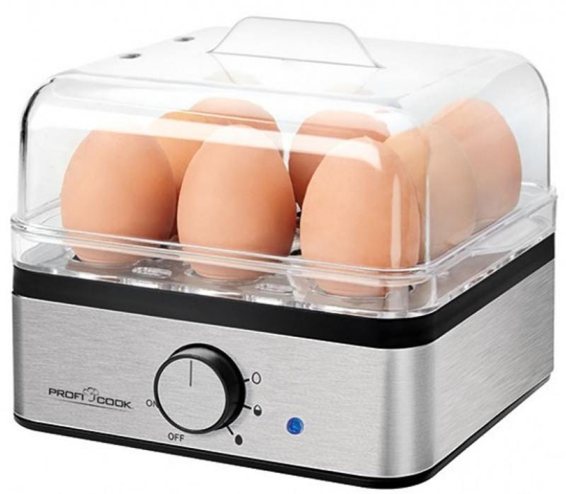 Яйцеварка ProfiCook PC-EK 1084 400 Вт серебристый яйцеварка steba ek 6 серебристый 400 вт ek 6