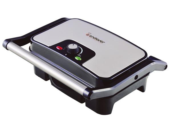 Электрический пресс-гриль ENDEVER Grillmaster 210, серебристый/черный