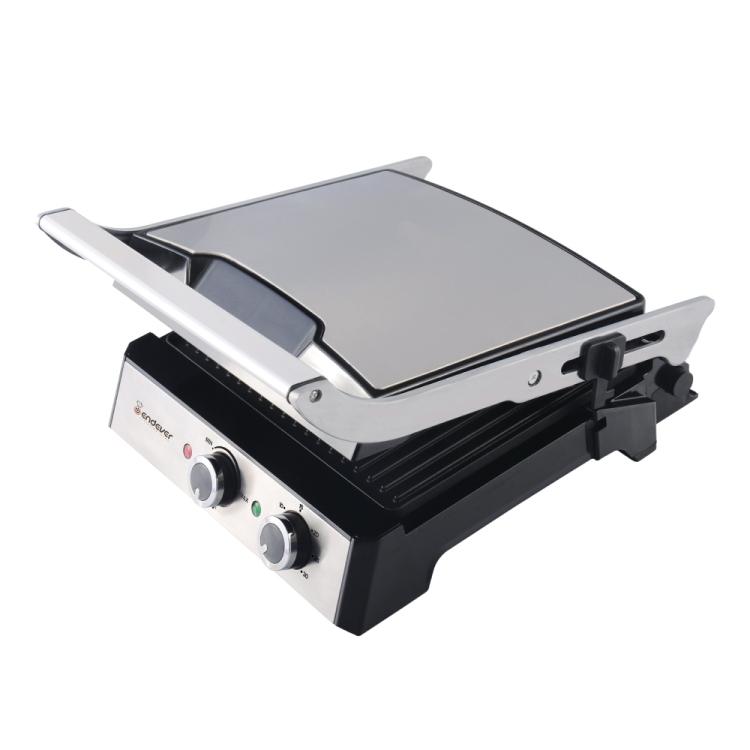 Электрический пресс-гриль ENDEVER Grillmaster 230, серебристый/черный