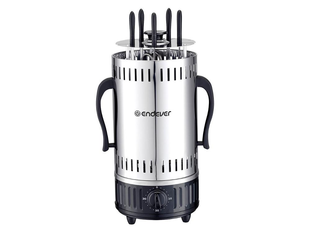 Электрошашлычница ENDEVER Grillmaster 290.1200 Вт, 5 шампуров, автоматическое вращение шампуров электрошашлычница чудесница 5
