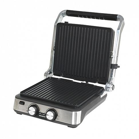 Электрогриль ENDEVER Grillmaster 235, 2000Вт, раб.поверхность 29x26 см, мех.регул. темп, серебристый/черный
