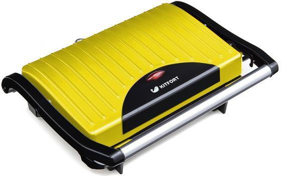 Бутербродница Kitfort Panini Maker KT-1609-2 жёлтый чёрный вафельницы kitfort бутербродница panini maker кт 1609 3 зеленый