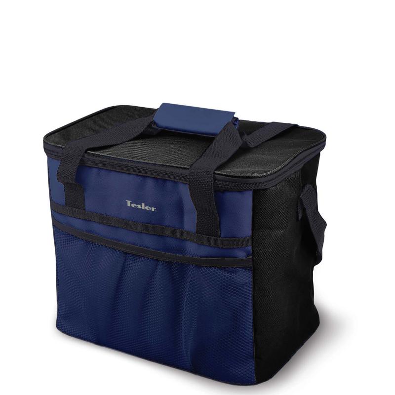 цена на Изотермическая сумка-холодильник TESLER ICB-1532 Черно-Синий. 15л, время сохранение температуры до 12 ч (с аккумуляторами холода)