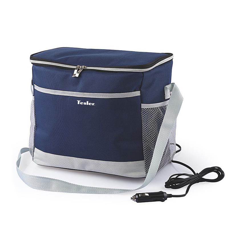 Термоэлектрическая сумка-холодильник TESLER TCB-1422 Синий, 14л, макс охлаждение 11-15° ниже температуры окр. среды(не ниже 5°) сосульки магнитные на холодильник ниже нуля