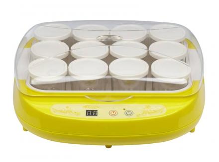 Йогуртница BRAND 4002 (цифровое управл. 12*200мл) желтая стоимость