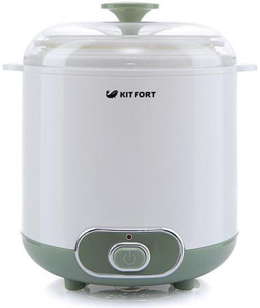 Йогуртница Kitfort KT-2005 белый/зеленый йогуртница kitfort кт 2006