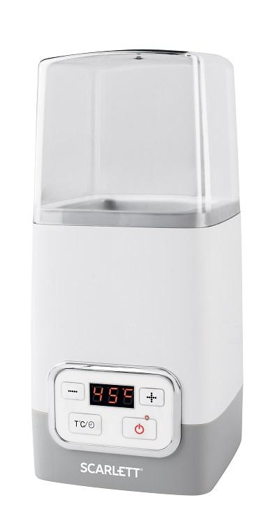 Йогуртница Scarlett SC - YM141P01 (белый с серым) масляный радиатор scarlett sc oh67b03 9 black