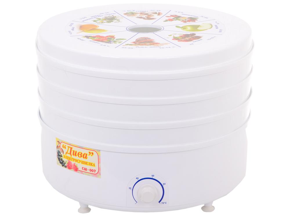 Сушилка для овощей и фруктов Ротор-Дива СШ 007 (007-05) 3 поддона, цветная упаковка, вент, Барнаул