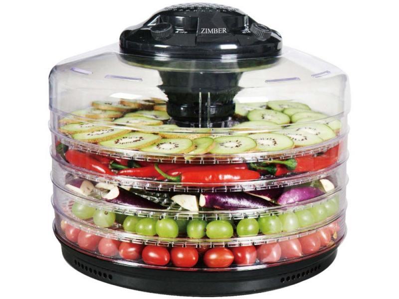 Сушка для овощей и фруктов Zimber ZM-11026 350Вт черный