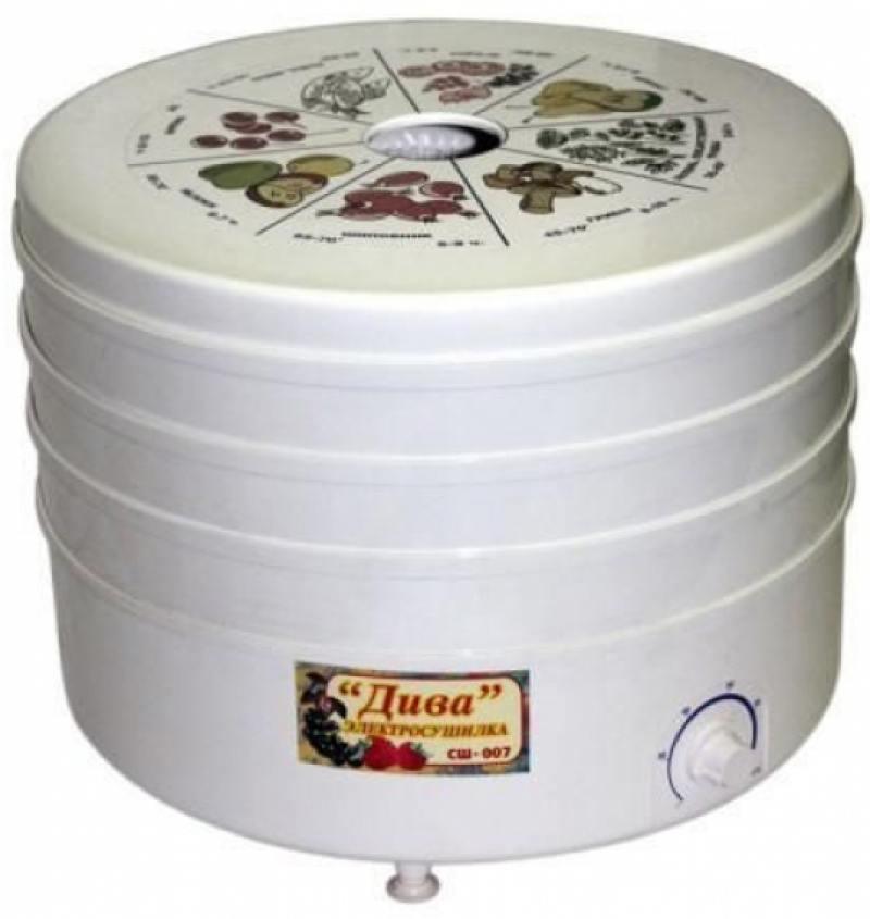 Сушилка для овощей и фруктов Ротор Дива СШ-007-05