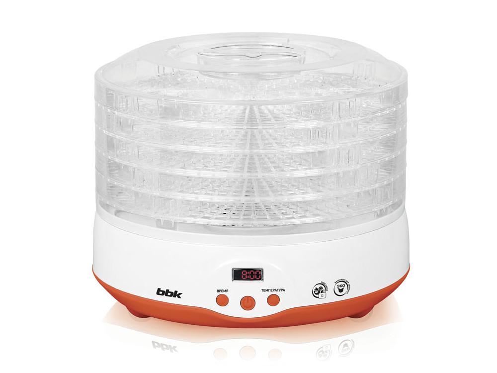 Сушилка для овощей и фруктов BBK BDH204D белый/оранжевый аудиомагнитола bbk bs01 черный и белый