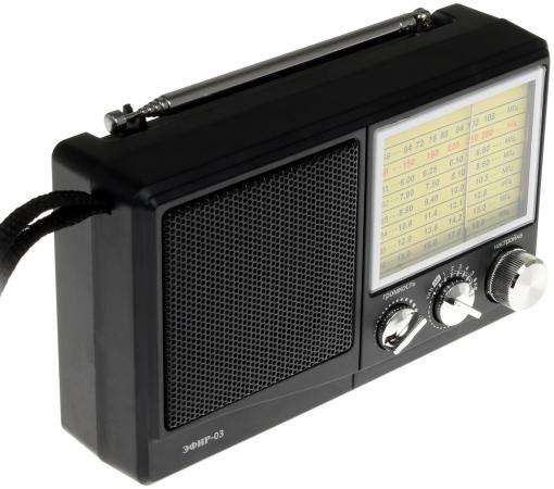 Радиоприемник Сигнал Эфир-03 черный радиоприемник сигнал electronics эфир 13