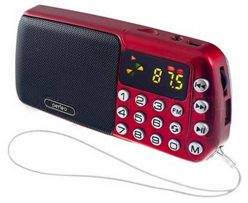 Радиоприемник Perfeo i70 Синица красный i70-RED