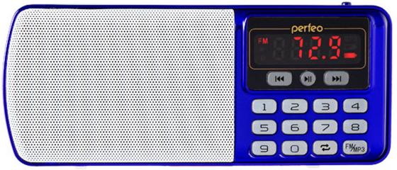 Радиоприемник Perfeo Егерь FM+ синий i120-BL