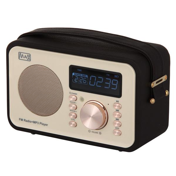 Радиоприемник MAX MR-350 Gold edition Дисплей с подсветкой, FM радио (87.5-108 МГц), MP3/WMA с USB/microSD, Часы/Будильник/Календарь. splish splash ducky