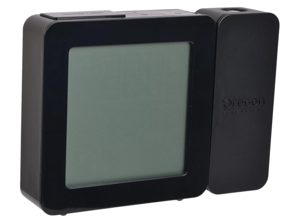 Тонкие проекционные часы  Oregon RM368P Black (возможность постоянной проекции, радиоконтролируемые часы)