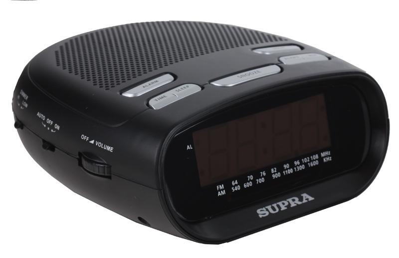 Часы с радиоприемником SUPRA SA-32FM black amber