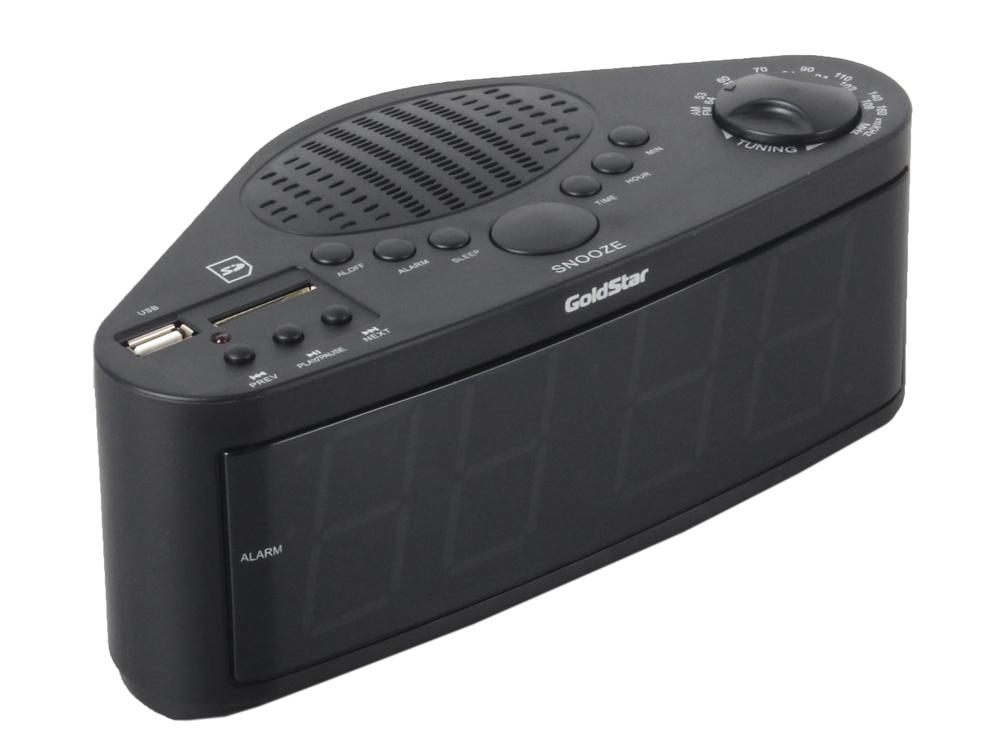 Часы с радиоприемником GOLDSTAR GA-15FMDU black/white