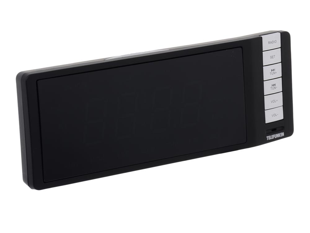 Часы с радиоприемником TELEFUNKEN TF-1507 (черный с зеленым)