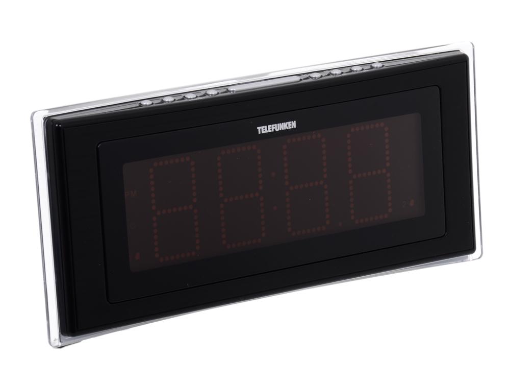 Часы с радиоприемником TELEFUNKEN TF-1541 (черный с оранжевым)