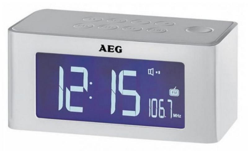 Часы с радиоприёмником AEG MRC 4140 i white
